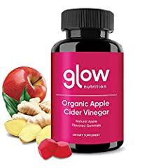 🍎 WHY GLOW? We know two things: apple cider vinegar is amazing for your health, and gummies are delicious. But most gummies miss an important ingredient - ginger root extract. This added ingredient improves the gummy texture, increases absorption, an...