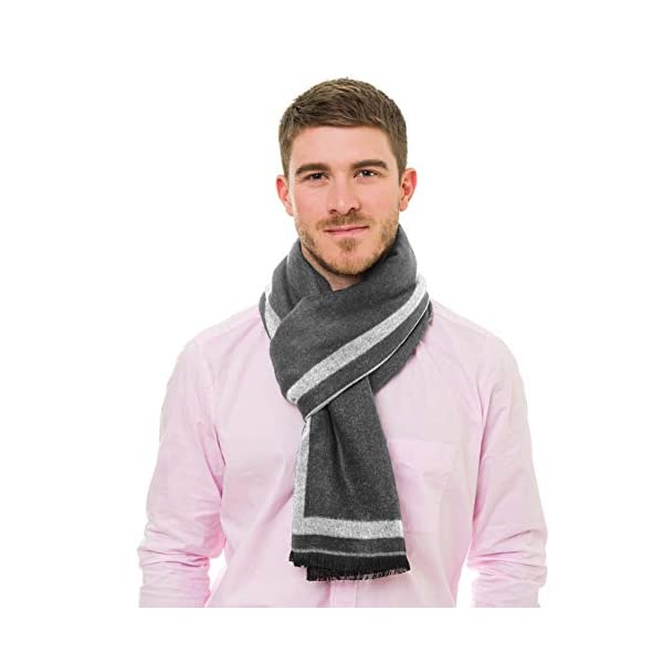 Scarf for Men Spring Fall Cashmere Touch Man Soft Elegant Classic Scarves