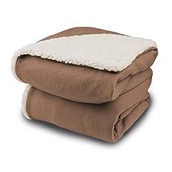 commercial Bidford Comfort Knit Electric Heating Blanket Sherpaphone biddeford heated throw