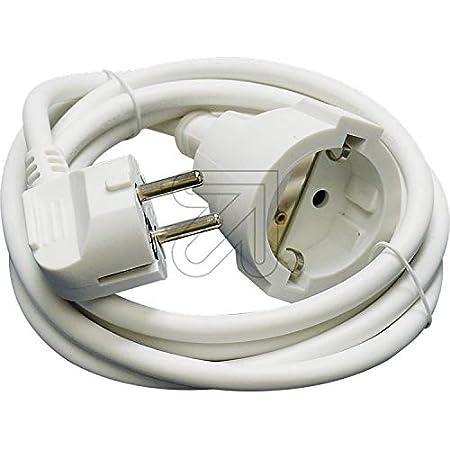 Electro Dh 36 762 1 B Verlängerungskabel Weiß 1m X 1 5 Mm Baumarkt