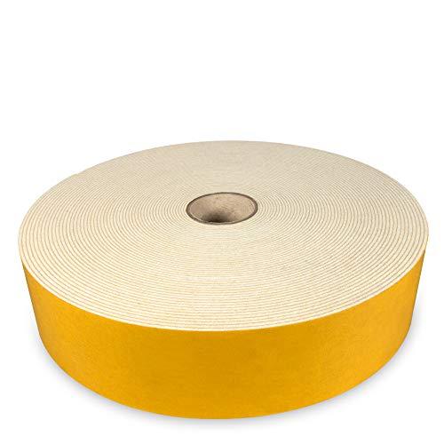 The Felt Store - selbstklebendes Filzband aus weißem Filz, 50 mm breit, 1,5 mm dick, 20 m lang
