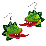 Little Shop of Horrors Audrey II Statement Dangle Earrings, Halloween Funny Detailed Handmade Jewlery