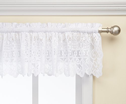 58 by 12-Inch LORRAINE HOME FASHIONS Rosemary Tailored Valance Linen