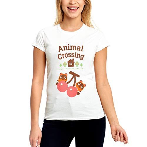 Animal Camiseta de Mujer Crossing Rip and Drag algodón Blanco - L