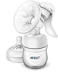 Phillips Avent manual breast pump on a white background