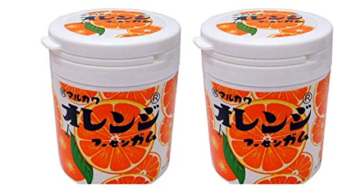 丸川製菓オレンジマーブルガムボトル 130g  × 2個 (2個【まとめ買い】)