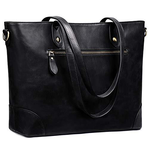 s zone shoulder bags S-ZONE Women Genuine Leather Shoulder Bag Large Work Tote Handbag Crossbody Purse