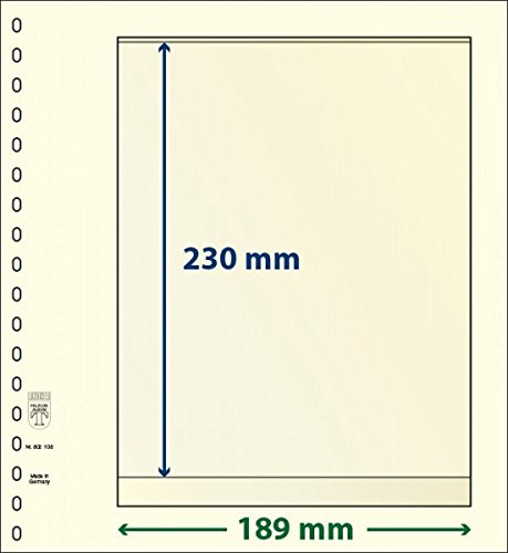 LINDNER Das Original Feuilles Neutres-T à 1 Poche: 230 mm - Paquet de 10