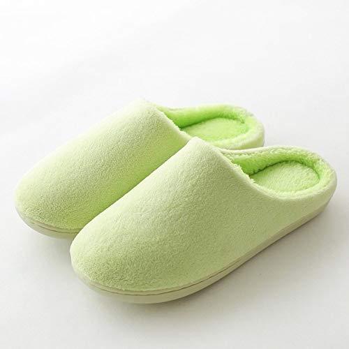 HIUGHJ Zapatillas de casa Mujer Zapatos de algodón de Interior Invierno Casual Mujer...