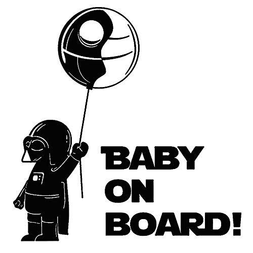 turkeybaby Autocollant De Voiture, Bébé à Bord Cool Boy Funny Car Vehicle Reflective Decals Sticker Sticker Noir