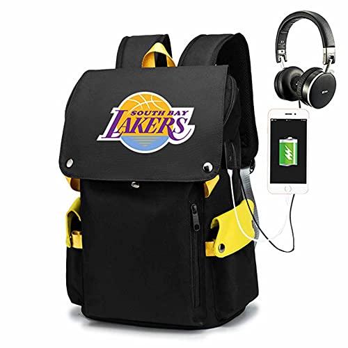AGLT Mochila de viaje para aficionados al baloncesto,Bolsa de escuela impermeable para hombre y mujer,Mochilas de interfaz de carga USB, correa de hombro ajustable, 2