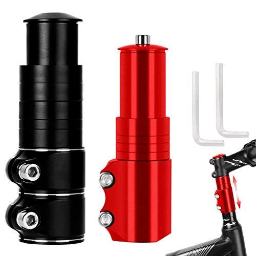 Biluer Attacco Manubrio Bicicletta, 2PCS Stelo di Rialzo Manubrio MTB 28,6 mm Adattatore per Prolunga Manubrio Adatto per La Parte delle Mountain Bike Bici da Strada