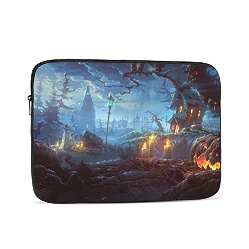 Halloween Laptop Sleeve 3D Printing Polyester Waterproof Shock Resistant with Zipper Protective Case,Compatible Satchel Tablet Carrying Sleeve 13 inch