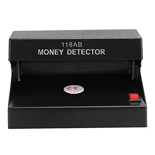 Detector de billetes falsos, detector de dinero ultravioleta UV de encimera, comprobador de billetes de banco portátil de fluorescencia única