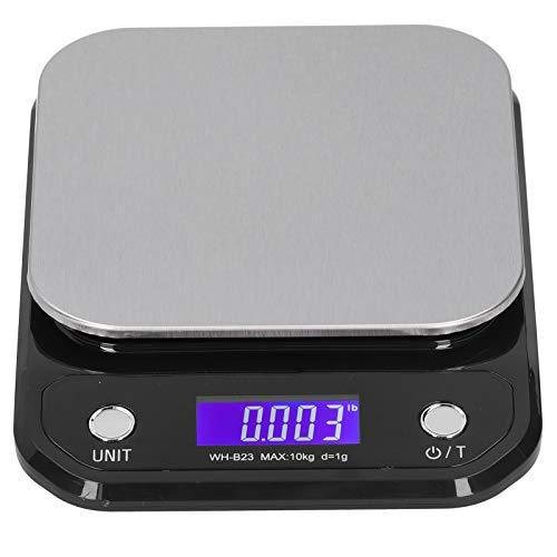 Báscula de alimentos, exquisita báscula electrónica de alta precisión, pantalla LCD digital de 16 x 21 x 3 cm para el hogar Herramienta de medición de peso de alimentos(10kg/1g)
