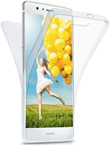 MoEx Funda Protectora 360º de Silicona Compatible con Huawei P9 Lite | Transparente, Transparent