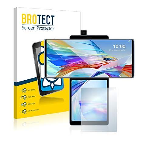 BROTECT Entspiegelungs-Panzerglasfolie kompatibel mit LG Wing (Hinteres Bildschirm) - Anti-Reflex Panzerglas Schutz-Folie Matt