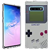 Galaxy S10+ Plus Case [Retro Gameboy](Clear) PaletteShield Flexible Slim TPU Skin Phone Cover (fit Samsung Galaxy S10+ Plus)