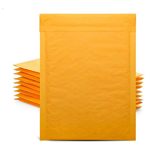 GSSUSA Kraft Bubble Mailers 6x10 Shipping Bags, Self-Seal Shipping Envelopes, Padded Envelopes, Package Bags, Mailing Bags, Packaging for Small Business, 50 Pack