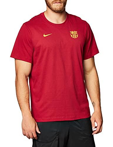 NIKE FC Barcelona Temporada 2020/21-FCB M NK Dry tee Core MATCHCD1224-620 Camiseta de Juego, Unisex, Noble Red, S
