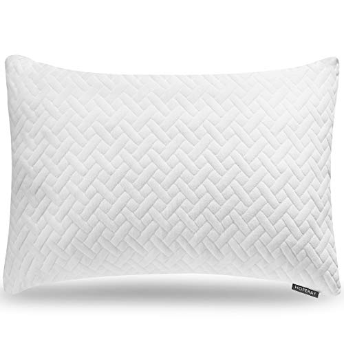 Bed Pillows for Sleeping-Bedding Shredded Memory Foam Pillow-Support Side Back Stomach Sleepers for Neck Shoulder Pain Relief-Adjustable Loft Washable Removable Cooling Bamboo derived Rayon Pillowcase