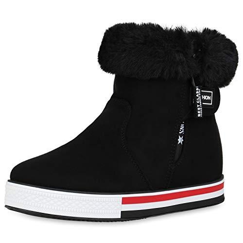 SCARPE VITA Dames Plateau Sneaker Warm Gevoerde Winter Turnschoenen Prints Nepbont Schoenen Comfortabel Winterschoenen Rits
