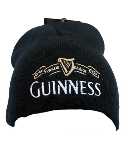Guinness Official Merchandise - Trademark Knitted Hat, Cappello da uomo, nero (schwarz - black), única