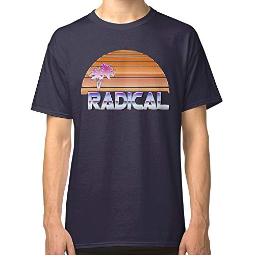 Miinviet Radical Miami Sunset Classic T-Shirt für Parent Father Mother Men And Woman, miinviet-014476-s-11, Blau, miinviet-014476-s-11 XL
