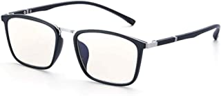 Ultra-Light Frame Reading Glasses, Ultra-Clear Vision, Block Blue Light, Progressive Multi-Focal Lens Reading Glasses,Silver,+3.5