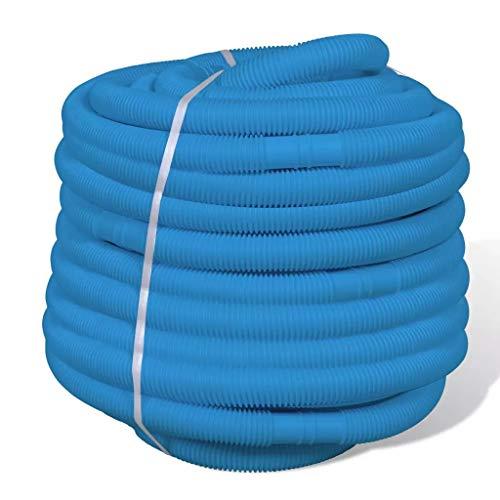 Cikonielf - Tubo flexible de repuesto para piscina, 50 m, 32 mm, azul, divisible cada 1,1 m, resistente a los rayos UV y a los agentes atmosféricos