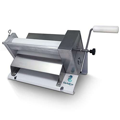 Dough Fondant Sheeter Machine Mini– #1 Italian Bakers Pasta Dough Roller Machine Creates Silky Smooth Gum Paste, Fondant,Modelling Chocolate, Flaky or Short Crust Pastry 0-12mm Thick
