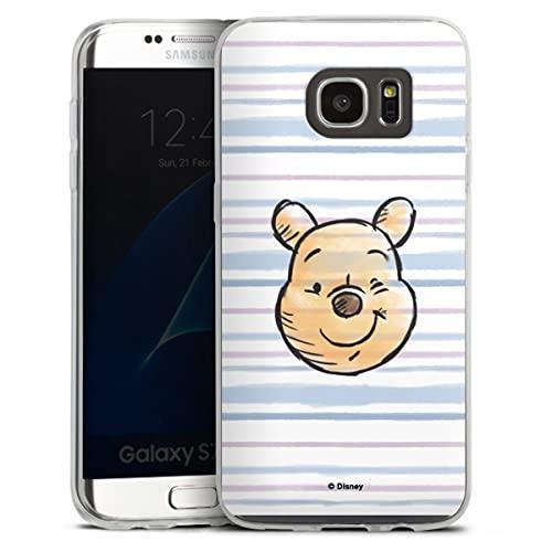 Custodia sottilissima Compatibile con Samsung Galaxy S7 Edge Custodia per Cellulare di Silicone Trasparente Cover Semplice Orso Disney Winnie The Pooh