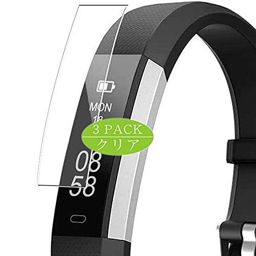 VacFun 3 Piezas Claro Protector de Pantalla, compatible con Lintelek LETSCOM ID115UHR ID115 UHR Fitness Tracker Smart Watch, Screen Protector Película Protectora(Not Cristal Templado) NEW Version
