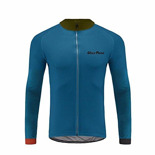 Uglyfrog #38 Neue Männer Radfahren Langarm Radfahren Jersey eine Menge Farben Antislip Ärmel Cuff Road Bike MTB Top Riding Shirt