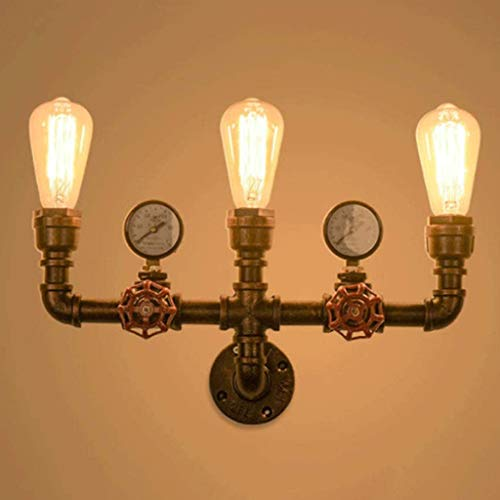 A.1.Coo Wall Lámpara Industriales Aplique Pared Luces Retras Creativas Lámpara E27 Socket Vintage Pipe Lámpara De Pared del Pasillo Salón Bar Decoration [Clase De Eficiencia Energética A++]