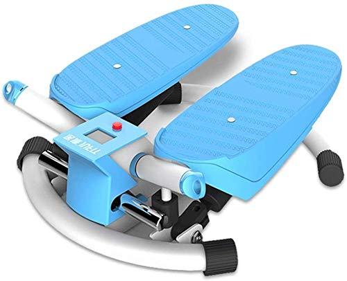 LKK-KK Peace Steps Máquina para Perder Peso en el hogar Escalador elíptico Equipo de Ejercicios Máquina para Adelgazar Pie 120 kg Peso de Carga (Color: Azul Tamaño: 40 * 46 * 18 cm)