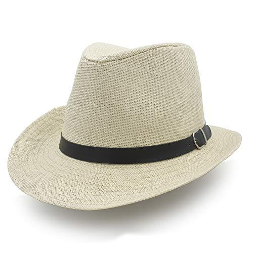 WANGZHI Decoración Sombrero for el Sol Sombrero de Rafia Verano for Mujeres...