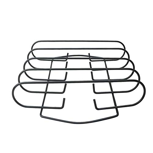 PPLAE Accesorios para Herramientas para Barbacoa KTCHEN Non-Show Metal Alambre Barbacoa Parrilla Soporte Asado Soporte Asador Estante Asador Rack Ampliación Cesta (Color : A)