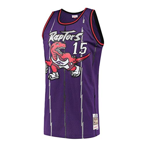 HJSW Maglia da Basket NBA Uomo, Vintage Swingman Jersey, 15 Vince Carter, Maglie Canotta NBA Tuta da Basket Pallacanestro Uniforme, S-XXL, Z024MK (Color : A, Size : XXL)