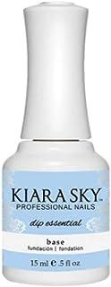 Kiara Sky Dip Essential Base. Base Layer Polish for Powder Manicure, 0.5 Ounces