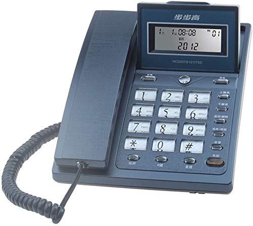 YYCHJU Teléfono con Cable Teléfono Home Office School School Mass Storage Identificación de Llamada Fija Línea Fija (Color : Blue)