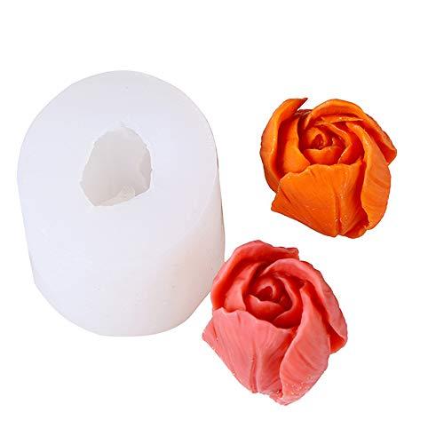 Silicona Vela Molde de Flor 3D Moldes Molde de tulipán Moldes de Pastel de Silicona Fondant para Velas para hacer a mano para Jabón Molde de fabricación de jabón casero Vela DIY Manualidades