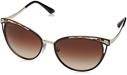 Bulgari 0BV6083 203013 56 Gafas de sol, Marrón (Brown/Pale Gold/Browngradient), Unisex-Adulto