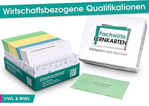 Wirtschaftsbezogene Qualifikationen - Lernkarten VWL & BWL: Prüfungsvorbereitung für Wirtschaftsfachwirte, Technische Fachwirte und Industriefachwirte