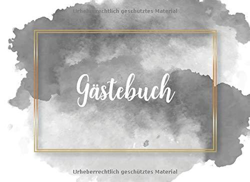 Gästebuch: Grau Goldenes Hochzeits Gästebuch für unsere Hochzeit mit Fragen und Einleitungstext...
