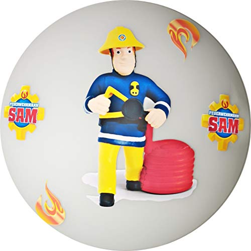 Deckenleuchte/Wandlampe * Feuerwehrmann Feuerwehr Sam * auch LED - mit/ohne Name