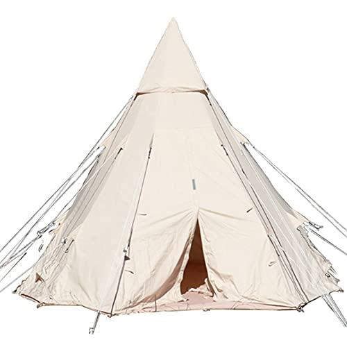 0℃ Outdoor Tienda de Campaña Ligera, Tiendas de Yurta de 4 Estaciones para Acampar, Carpa para Niños Carpa para Campamento Carpa para Glamping Carpa para Jardín para Todas,4mx4m
