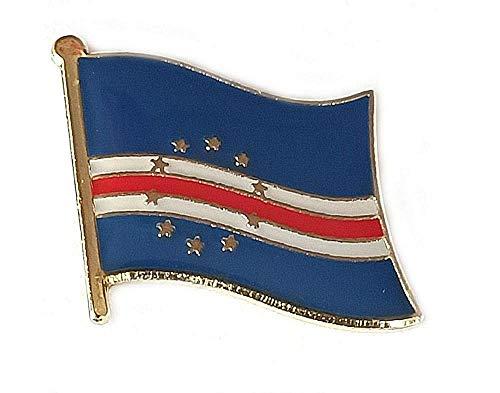 Anstecknadeln, Motiv: Flagge von Kap Verde, aus emailliertem Metall, Souvenir für Hüte, Kleidung, Rucksack