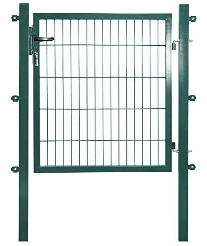 Arvotec Gartentor für Stabmattenzäune, grün, BxH:1200x1000mm inkl. Pfosten - mit Befestigungsmaterial & Ersatzschlüsseln - Top Qualität zum Bestpreis!