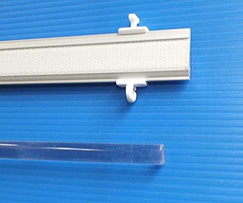 myraumdesign Nachträglich einbaubarer Profi Paneelwagen Aluminium - in verschiedenen Längen - Silber oder weiß für Schiebegardine - Fast überall passend (57 cm, Silber)